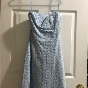 Baby blue Express strapless dress